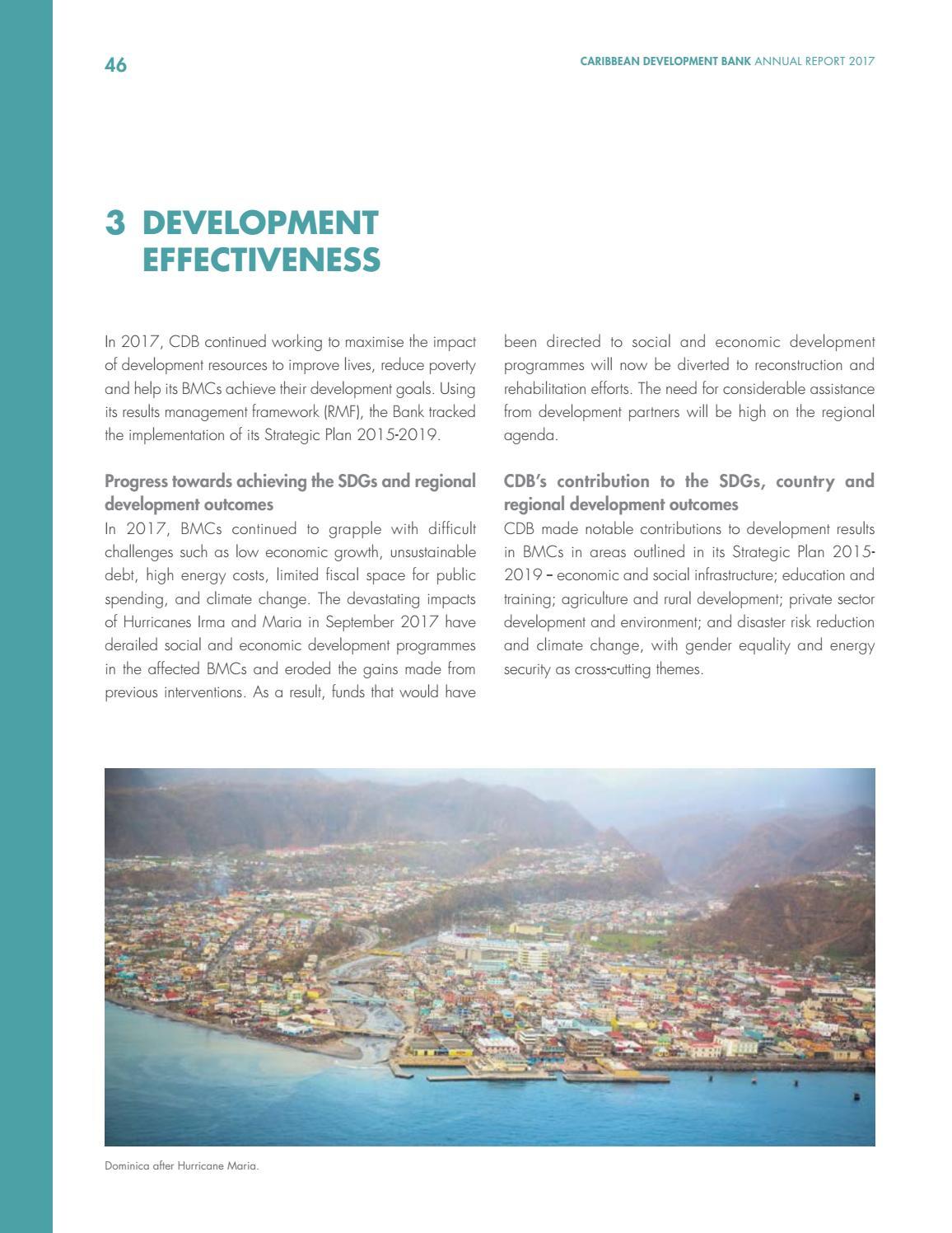 CDB's Annual Report 2017 by Caribbean Development Bank - issuu