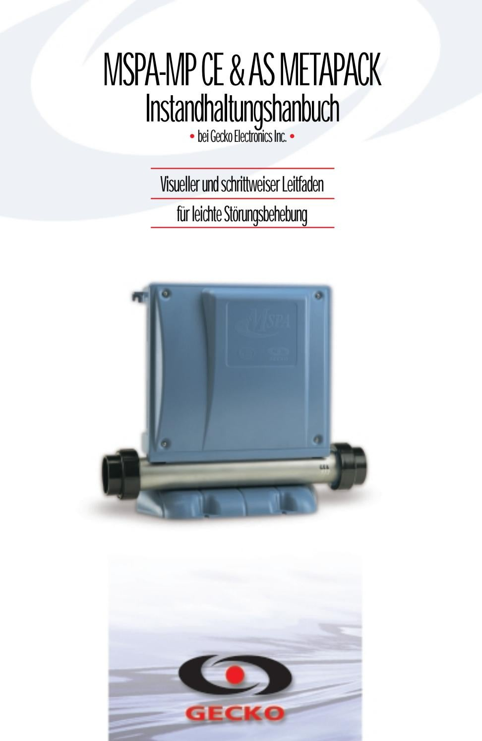 M-Class MC-MP-CE control system service manual (Deutsch) by Gecko ...