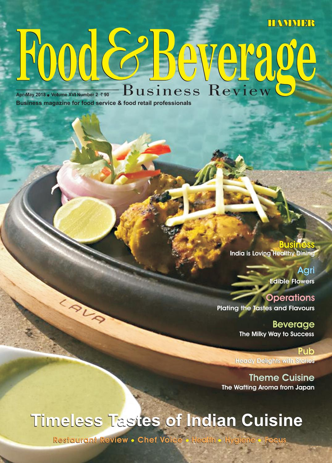 Food Beverage Business Review April May  By Food