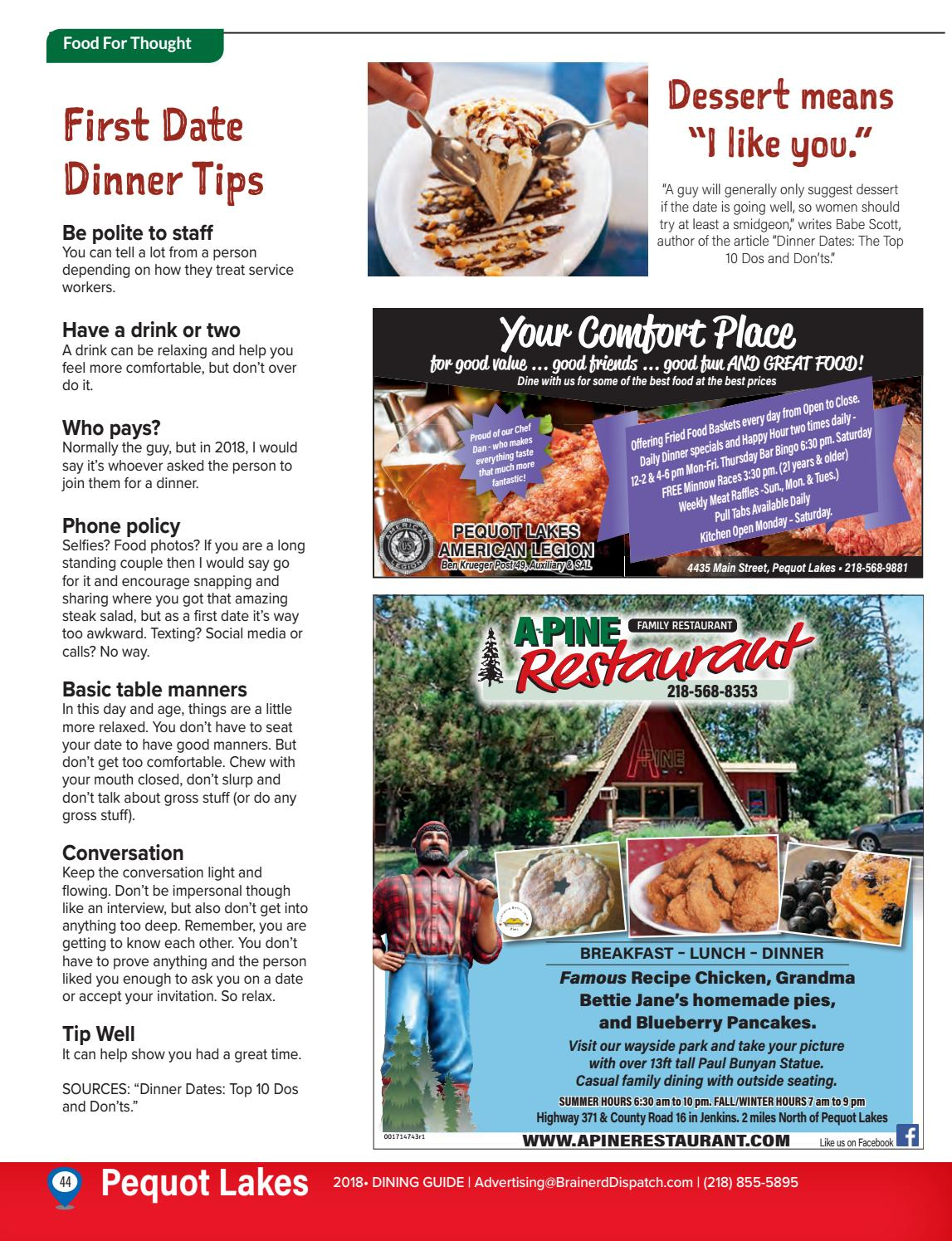 Lakes Area Dining Guide - 2018 by Brainerd Dispatch - issuu