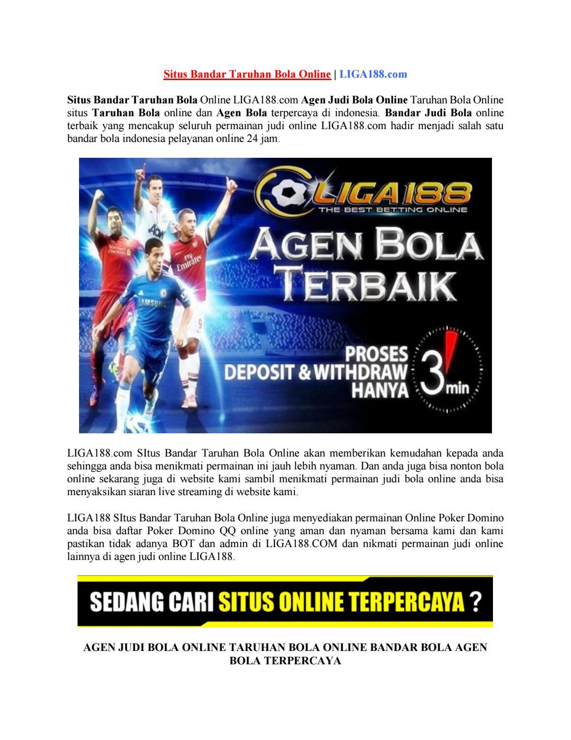 Situs Bandar Taruhan Bola Online Liga188 Com By Situs Judi Online Issuu