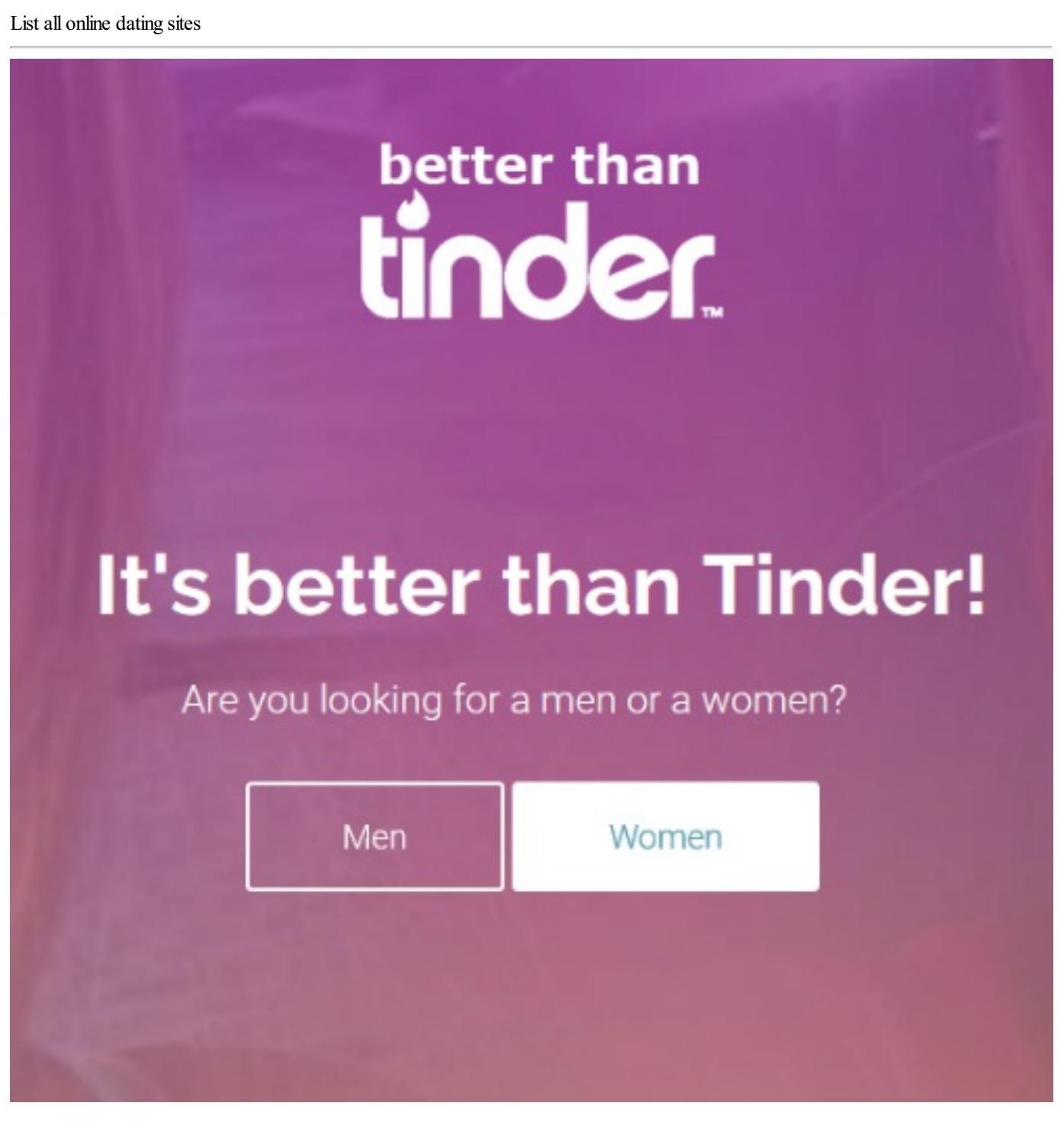 Online dating site liste