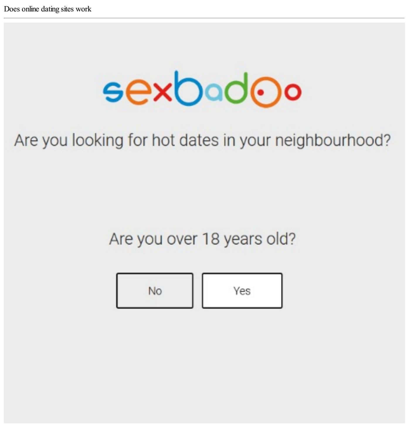 does online dating websites work