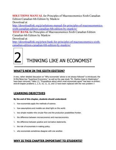 Solutions Manual For Principles Of Macroeconomics Sixth