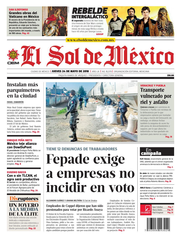 El Sol de México 24 de mayo 2018 by El Sol de México - issuu