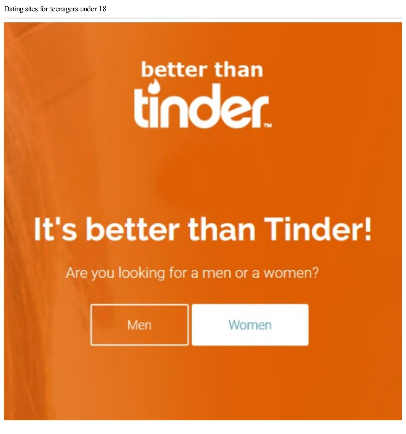 Dating sites under 18