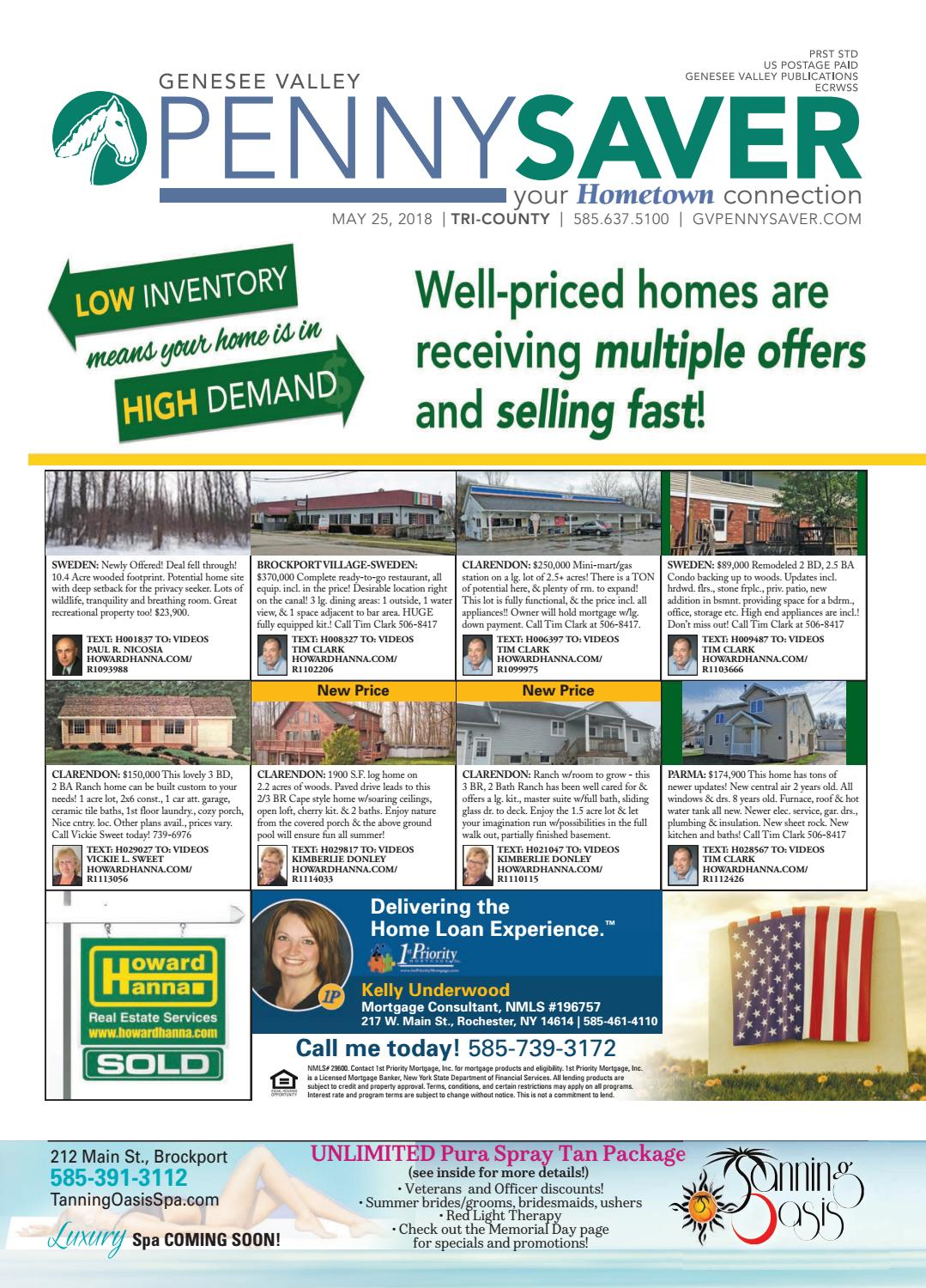 Tri-County Edition - The Genesee Valley Penny Saver 5/25/18