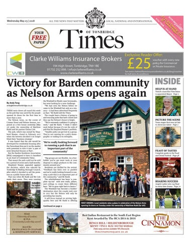 Times Of Tonbridge 23rd May 2018 By One Media Issuu