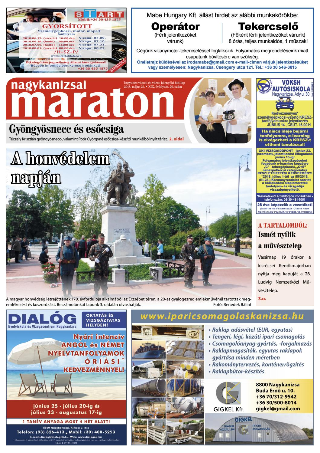 a9b5064838f Nagykanizsai Maraton - 2018. 05. 25. by Maraton Lapcsoport Kft. - issuu