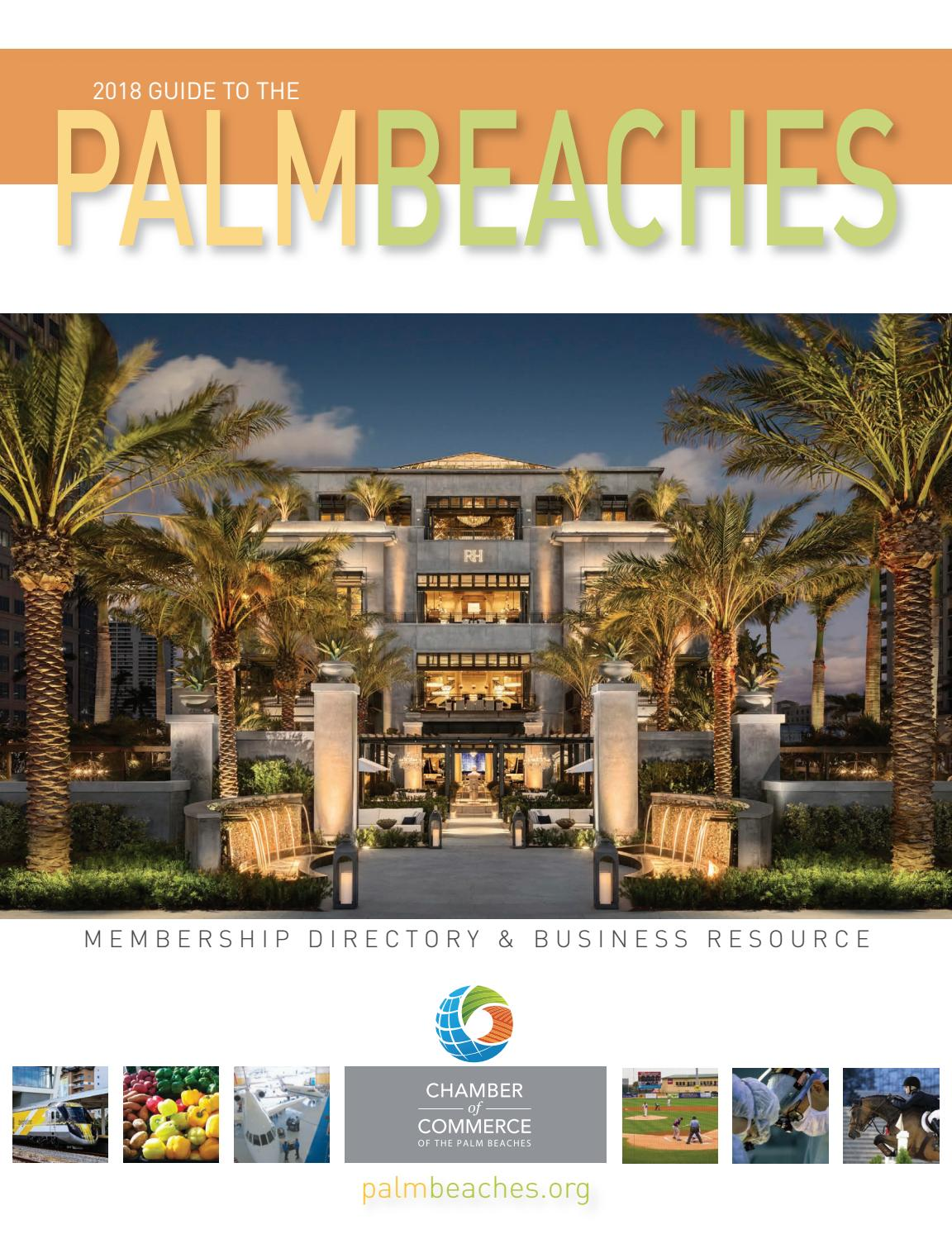 1a4eed42296f0 2018 Guide to the Palm Beaches by Chamber of Commerce of the Palm Beaches -  issuu
