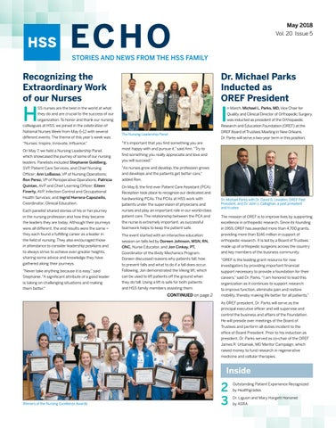 HSS ECHO - May 2018 by Hospital for Special Surgery - issuu