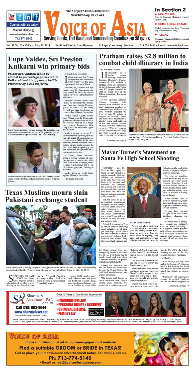 Voice of Asia E-paper May 25, 2018 by VoiceOf Asia - issuu