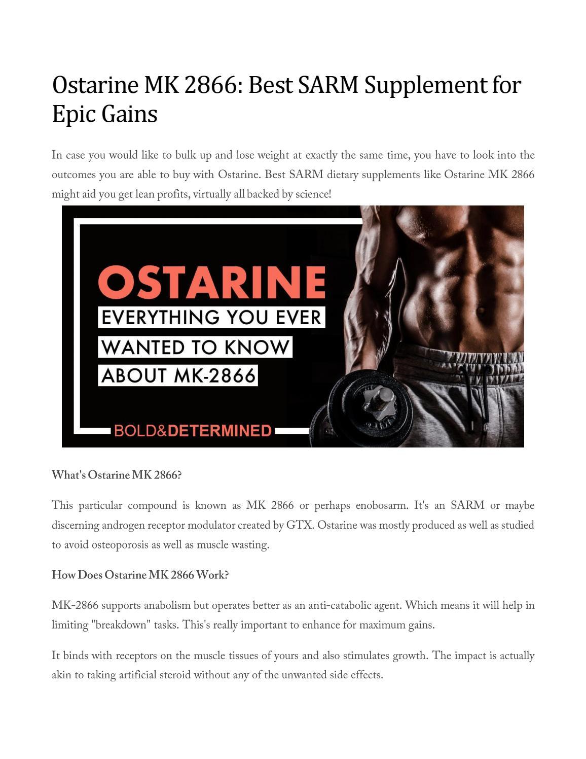 Ostarine mk 2866 best sarm supplement for epic gains by