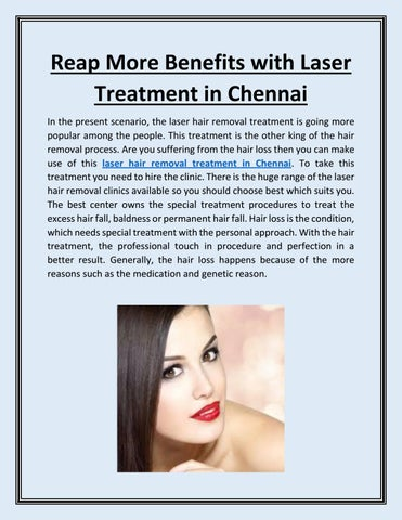 Reap More Benefits With Laser Treatment In Chennai By Relooking