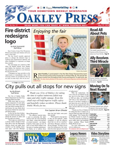 2a41ac645b Oakley Press 05.25.18 by Brentwood Press   Publishing - issuu