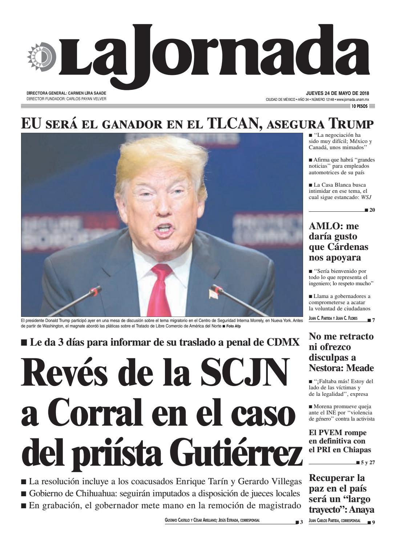 087c98fb6 La Jornada, 05/24/2018 by La Jornada - issuu
