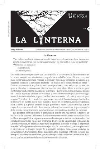 Revista La linterna - edición 2° by Facultad de Creación y ...
