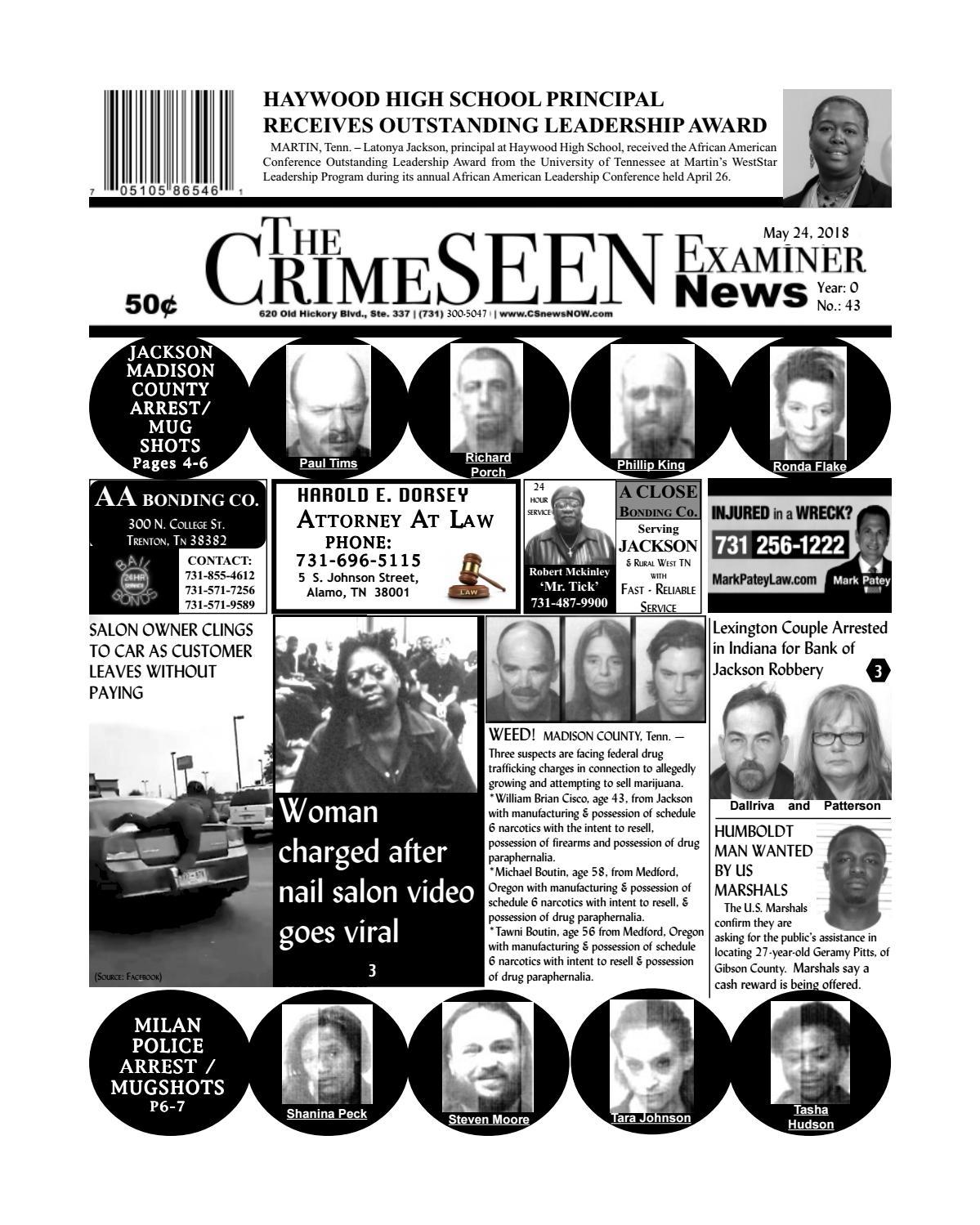 The CrimeSEEN Examiner News May 24, 2018 by CrimeSEEN