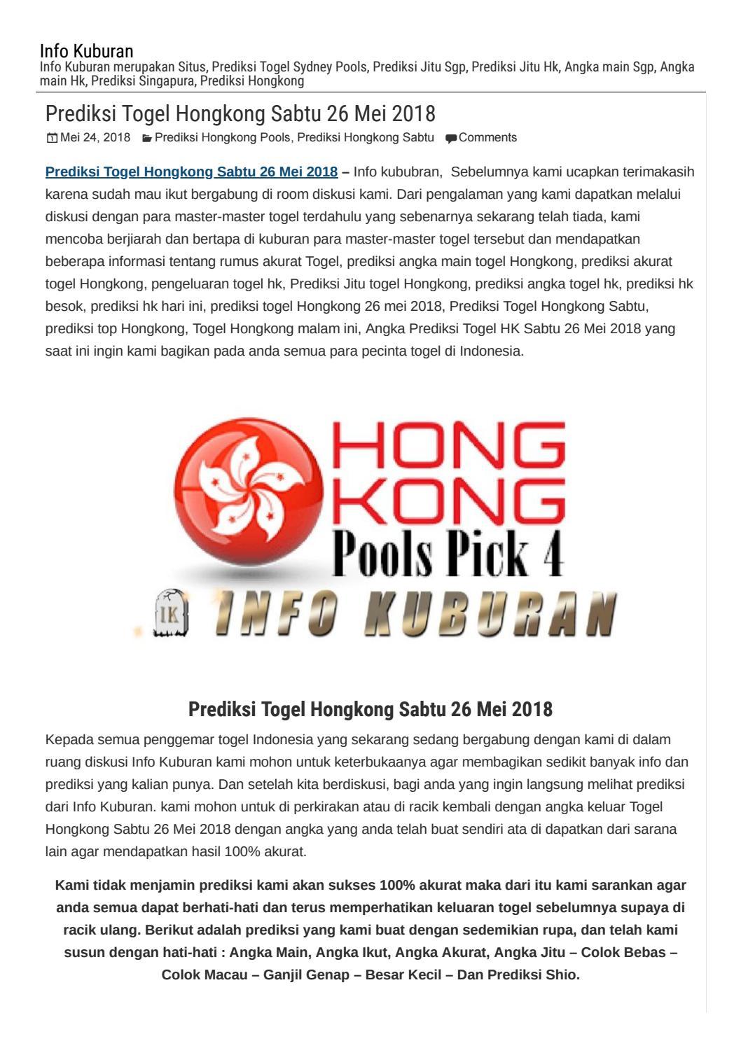 Prediksi Togel Hongkong Sabtu  Info Kuburan By Adistia