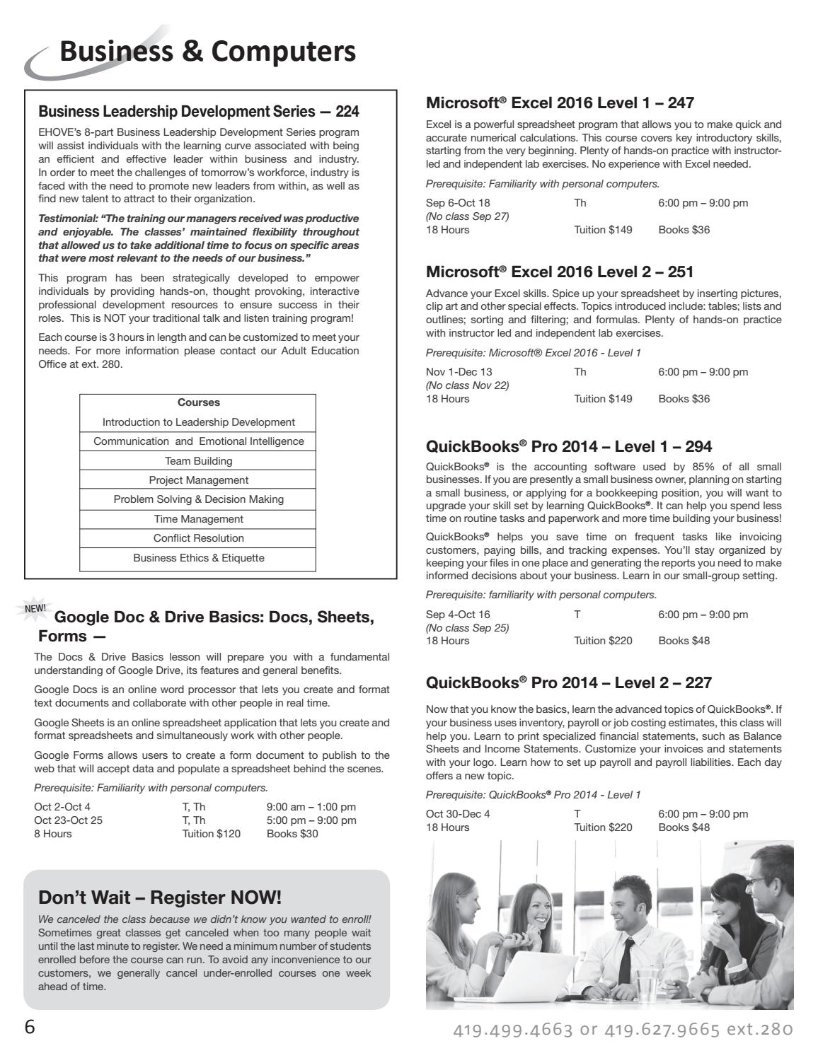 2018 Fall Course Catalog by EHOVE Adult Career Center - issuu
