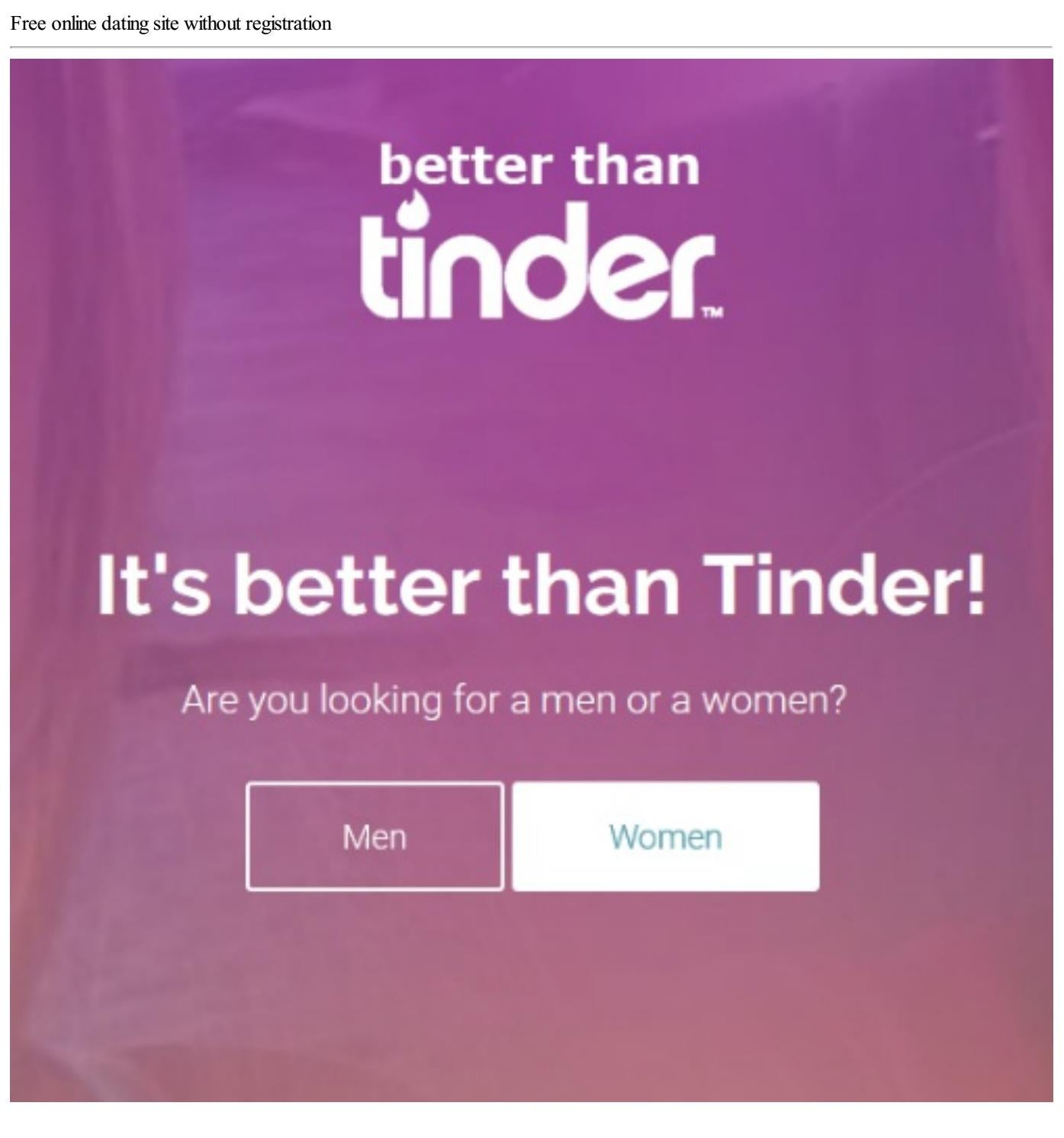 free online dating sites without any registration