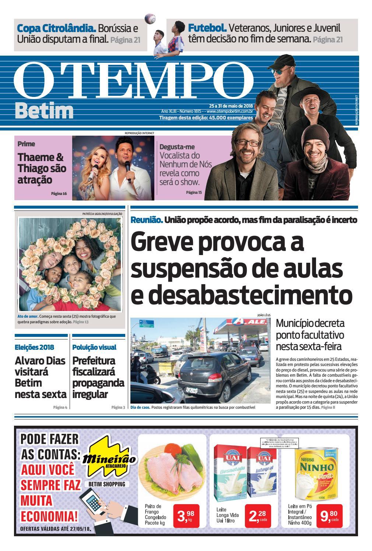 O Tempo Betim - 25 a 31 de maio de 2018 by Tecnologia Sempre Editora - issuu fc3a9456b6efc