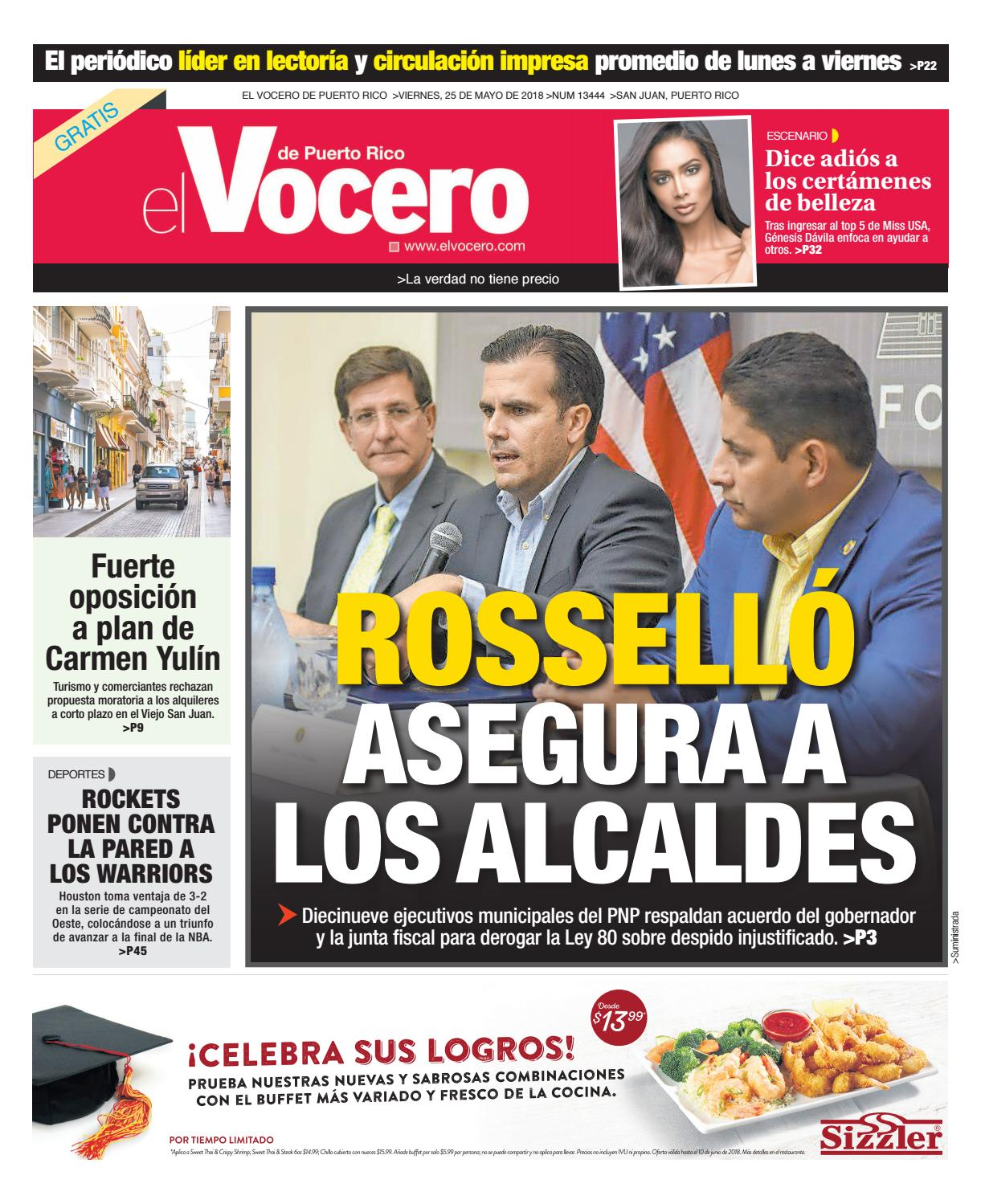Edición del 25 de mayo de 2018 by El Vocero de Puerto Rico - issuu