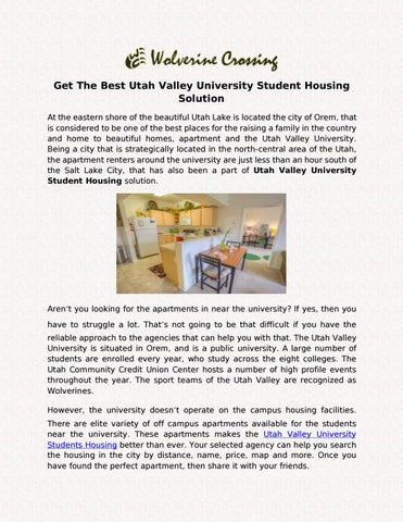 Get The Best Utah Valley University Student Housing Solution