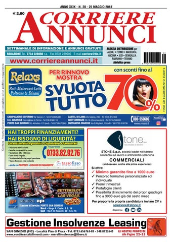 27b06db2be Corrier20 2018 by Corriere Annunci - issuu