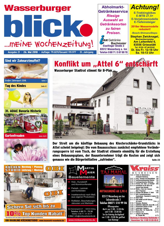 Wasserburger blick - Ausgabe 21 | 2018 by Blickpunkt Verlag - issuu