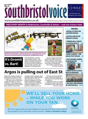 South Bristol Voice Bedminster June 2018 By South Bristol