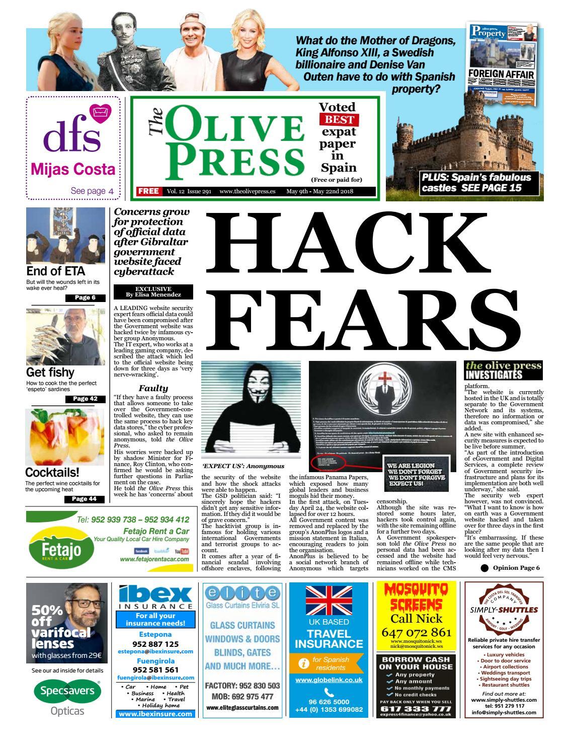 Olive Press Newspaper – Issue 291 by Olive Press Newspaper