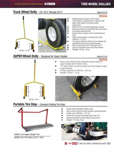 ESCO Super Single Wheel Dolly 70132