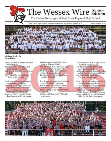 The Wessex Wire (Senior Issue 2016) by Wessex Wire - issuu