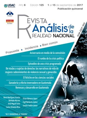 fd53cb8d Edición No. 125, Revista Análisis de la Realidad Nacional by ...