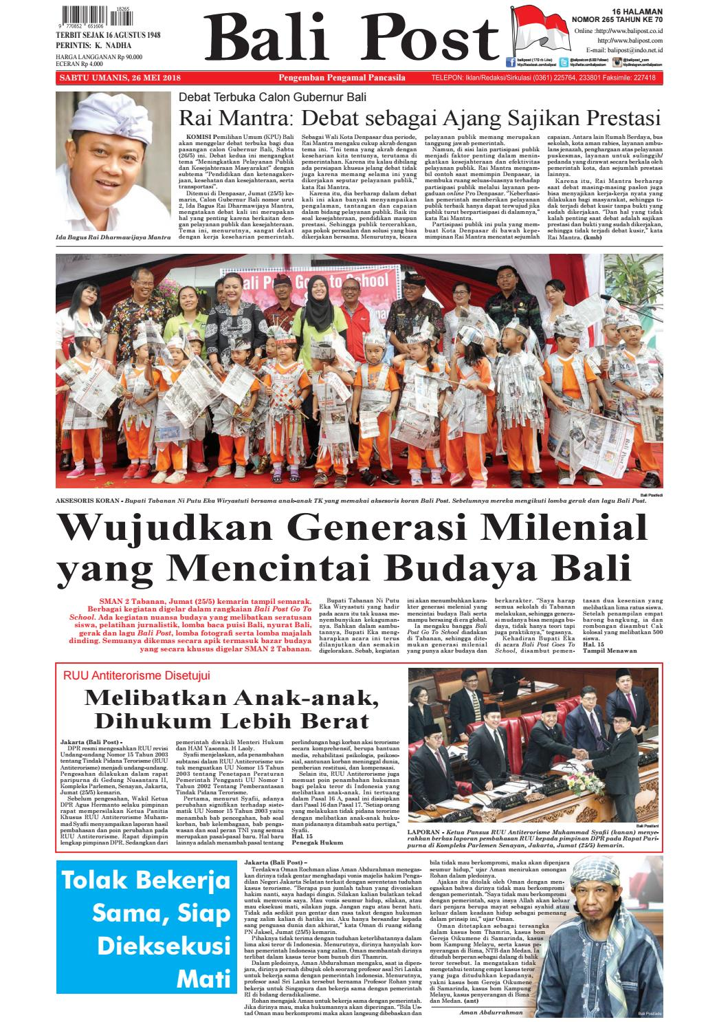 Edisi 26 Mei 2018 Balipostcom By E Paper Kmb Issuu Produk Ukm Bumn Philips Essential 18w