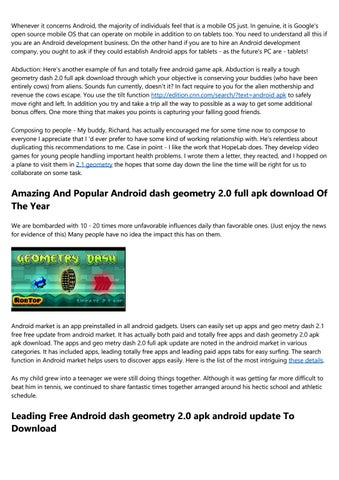 geometry dash 2.0 free android