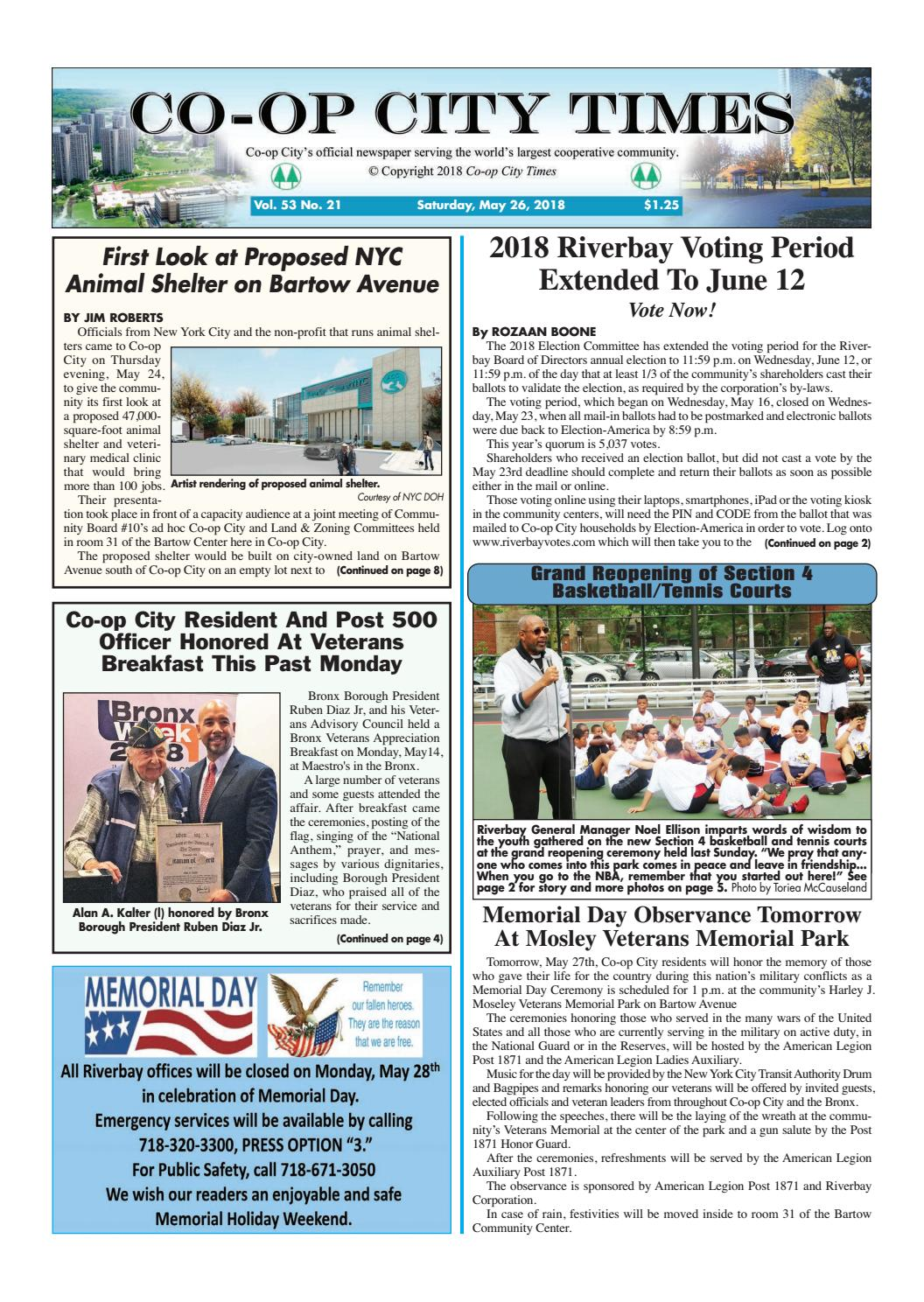 Co-op City Times 05/26/18 by Co-op City Times - issuu