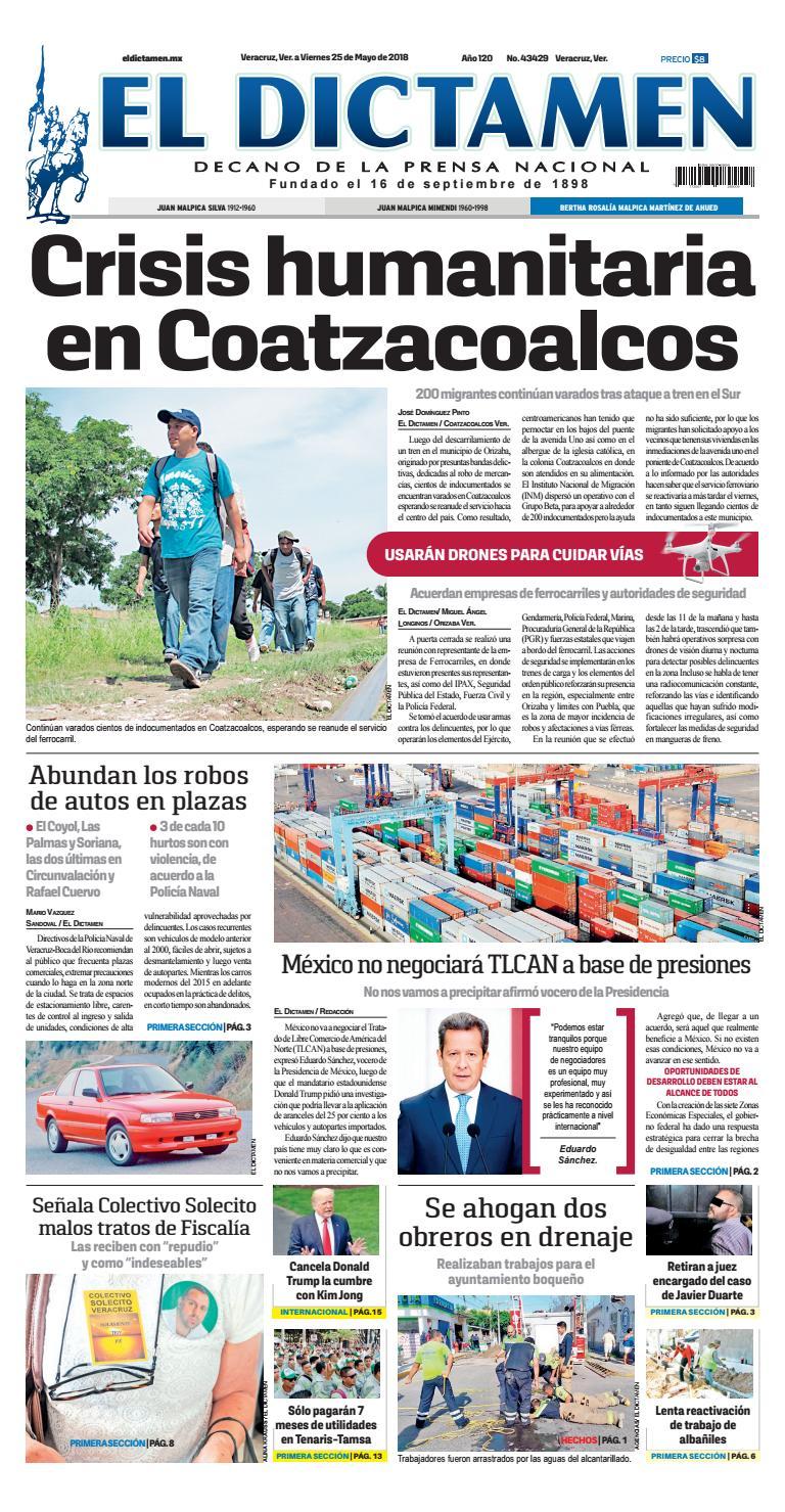 El Dictamen 25 De Mayo 2018 By El Dictamen Issuu