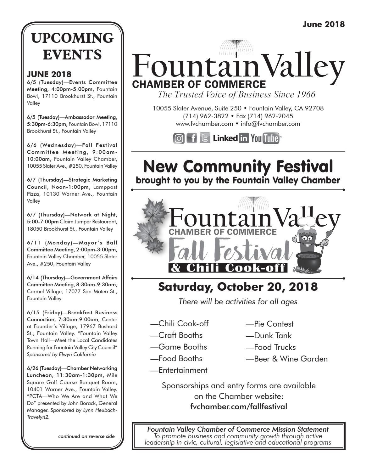 Fvcc June 2018 Flyer By Fountain Valley Chamber Of Commerce Issuu