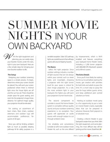 Page 47 of Summer Movie Nights in Your Own Backyard