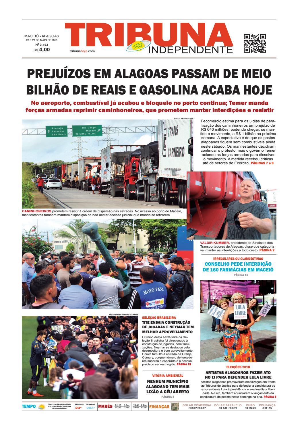 cda9c2dec0b20 Edição número 3153 - 26 e 27 de maio de 2018 by Tribuna Hoje - issuu