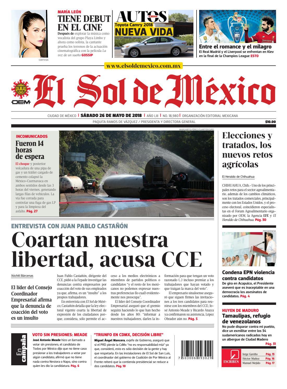 El Sol de México 26 de mayo 2018 by El Sol de México - issuu dfc2762172efe