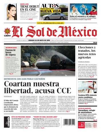 El Sol de México 26 de mayo 2018 by El Sol de México - issuu 56ae749dbcf0
