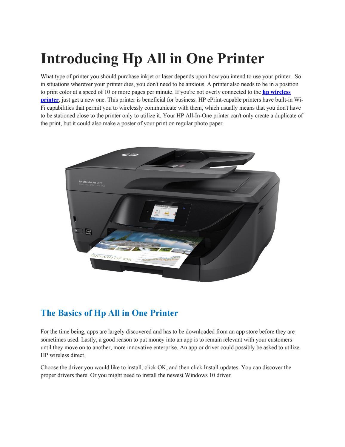 Hp printer by annajohnson - issuu