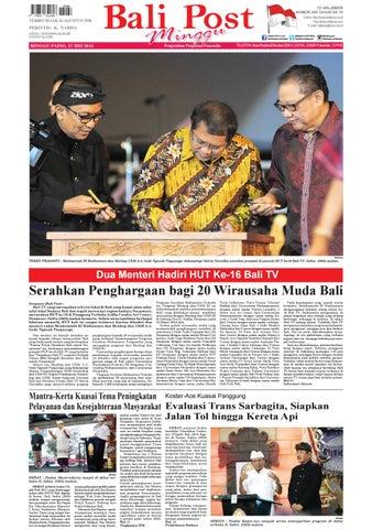 Edisi Minggu 27 Mei 2018 Balipost Com By E Paper Kmb Issuu