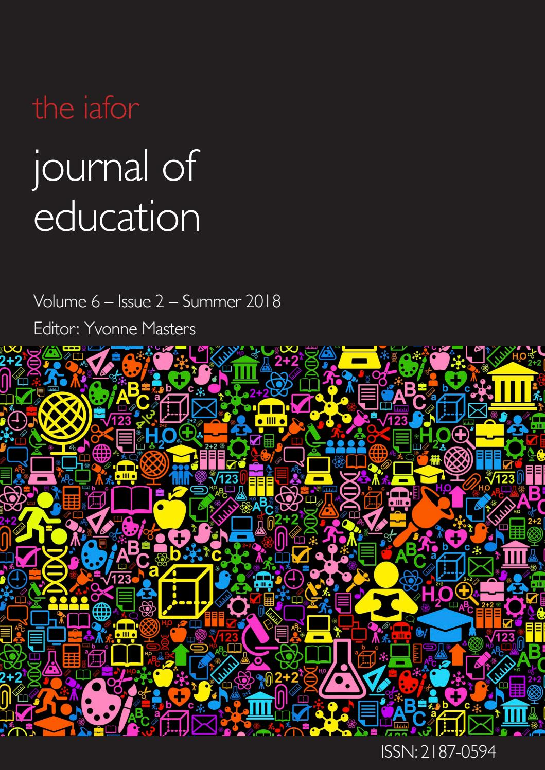 IAFOR Journal of Education Volume 6 – Issue 2 – Summer 2018