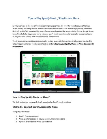 Tips to Play Spotify Music / Playlists on Alexa by Paris