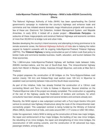 BHARATMALA PROJECT by swathi vala - issuu