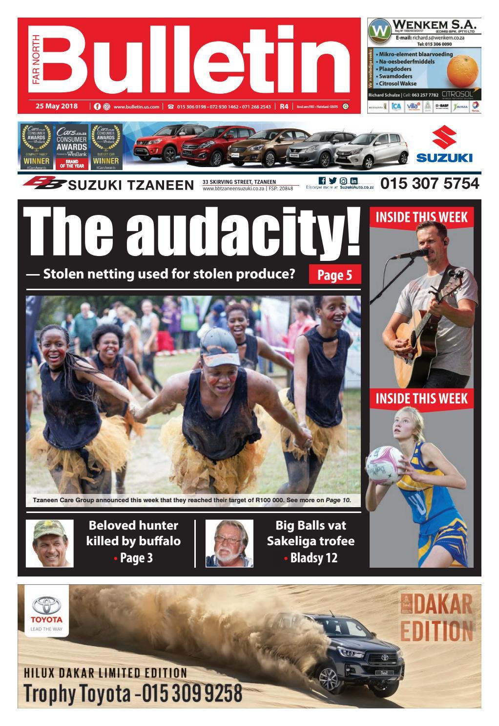 Bulletin 180525 By Far North Issuu Half Inch Rachet Security Electric Fencing Nemtek South Africa